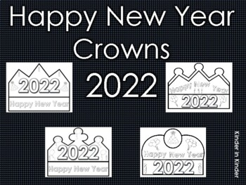 2017 Happy New Year Crowns (Free Yearly Updates)