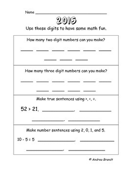 2015 Happy New Year - Primary Grades Language Arts & Math