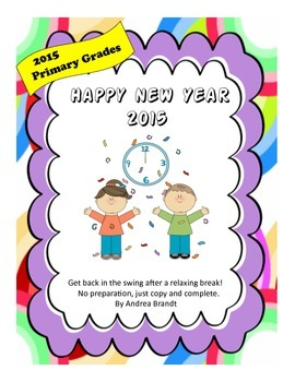 2015 Happy New Year - Primary Grades Language Arts & Math