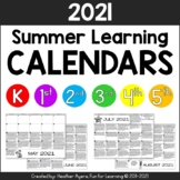 2018 NO PREP Summer Activity Calendars {K-5 BUNDLE}