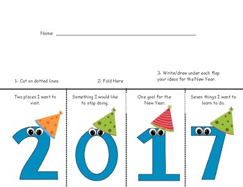 2017 New Year Foldable