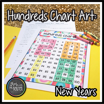 Hundreds Chart Art: New Years (Mystery Picture)