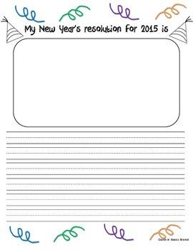 2015 New Years Resolution'
