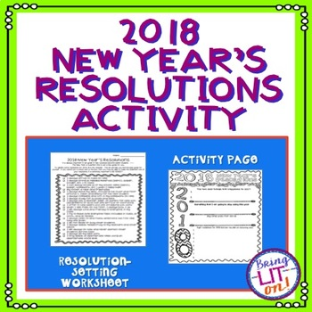 2017 New Year's Resolutions Activity