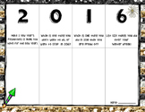 2016 New Year's Resolutions and Goal Setting Activity- 2nd-5th Grades