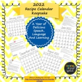 2019 Recipe Calendar Keepsake:A Year of Delicious Speech, Language and Learning