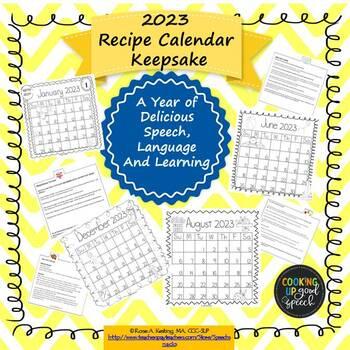 2017 Recipe Calendar Keepsake:A Year of Delicious Speech,