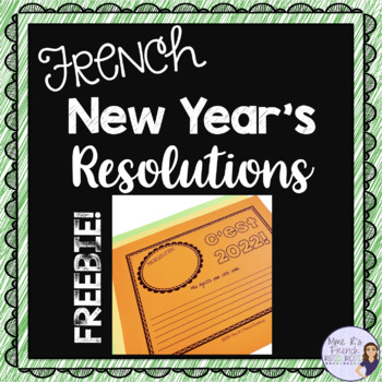 French New Year's Resolutions 2020