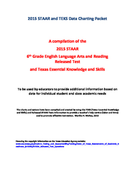 2015 STAAR and TEKS 6th Grade English Language Arts and Reading Data Packet