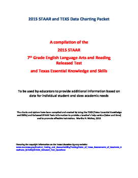 2015 STAAR and TEKS 7th Grade English Language Arts and Reading Data Packet