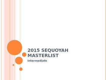 2015 Sequoyah Masterlist Power Point Presentation