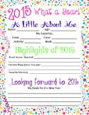2015 What a Year...New Year's Writing Page