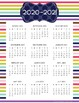 Calendar 2017-2018 (one-pager) FREEBIE