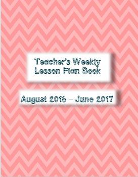 2016/17 Monthly/Weekly Teacher Plan Book