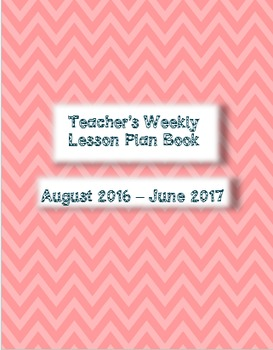 2016/17 Monthly/Weekly Teacher Plan Book
