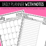 Daily Planner for 2019-2020 With FREE Updates