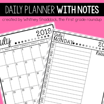 Daily & Monthly Calendar Planner, 2016-17