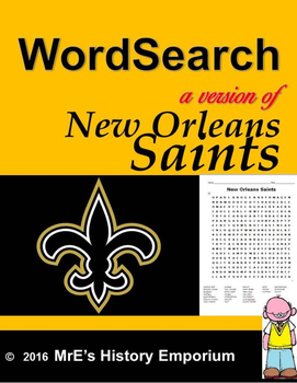 2016-17 New Orleans Word Search