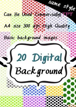 big polka dot -20 digital background2-artclip 300pdi