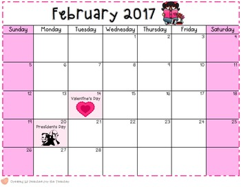 2016-2017 Editable Monthly Newsletters