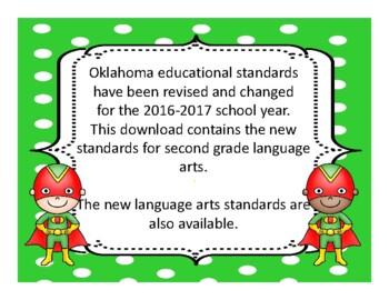 2018-2019 2nd Grade Oklahoma Math and Language Academic Standards, Superhero