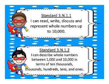 2017-2018 3rd Grade Oklahoma Academic Standards Math, Language Arts Superhero