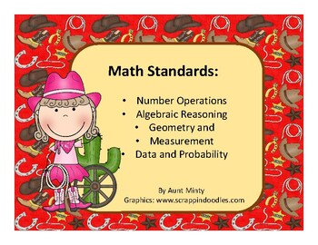 3rd Grade Oklahoma Math, Language Academic Standards Cowboy Design