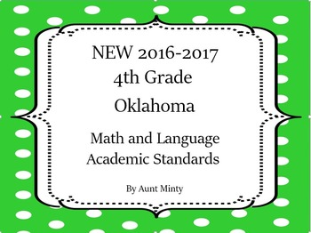 2017-2018 4th Grade Oklahoma Math and Language Academic Standards