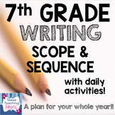 2016 - 2017 7th Grade Writing Scope & Sequence w/Daily Act