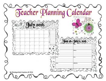 2016-2017 Academic Calendar & Planner - Hand drawn DOODLES!