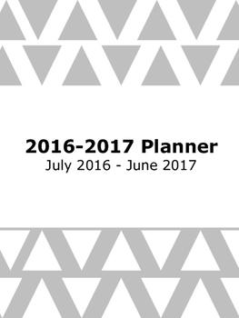 2016-2017 Academic Planner