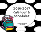 2016-2017 Academic Planner- Black and Yellow Theme