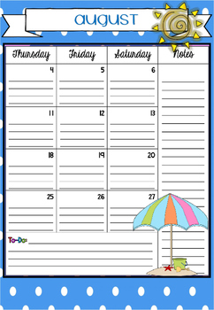2016-2017 Academic calendar (full calendar)