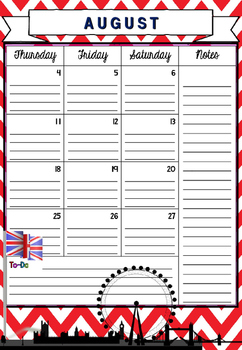 FULLY EDITABLE! 2016-2017 Academic monthly/weekly planner English teachers theme