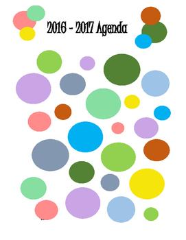 2016-2017 Agenda
