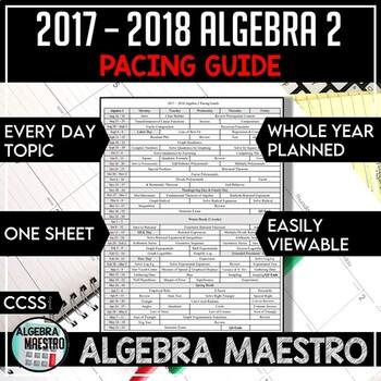 2017-2018 Algebra 2 Pacing Guide