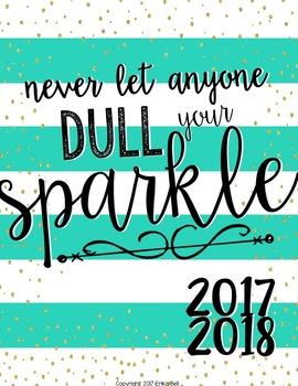 2017-2018 All That Glitters Teacher Planner (Editable)