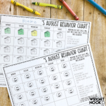 BEHAVIOR CHART CALENDARS