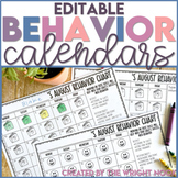 Behavior Charts for Monthly Behavior Management