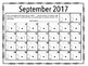 2016-2017 Back-to-School Homework Reading and Math Calendar