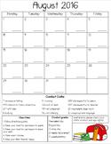 2016-2017 Behavior/conduct calendars