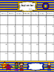 2016-2017 Blank and Editable Superhero Calendar