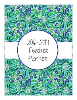 2016-2017 Blue-Green Teacher Planner