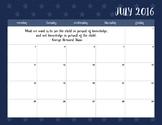 2016-2017 Blue Stars Calendar