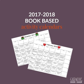 2017-2018 Book Based Homework Calendars