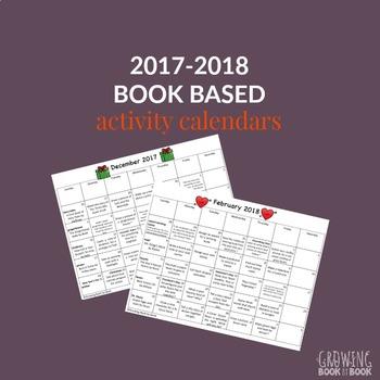 2016-2017 Book Based Homework Calendars