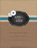 2017-18 updated  Burlap & Lace Teacher Binder, Planner - f