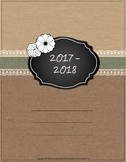 UPDATED for 2017-18 Burlap & Lace Teacher Binder/Planner -
