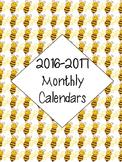 2016-2017 Calendar - Bee Theme