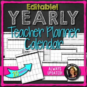 2017-2018 Calendar Editable Updated for Life